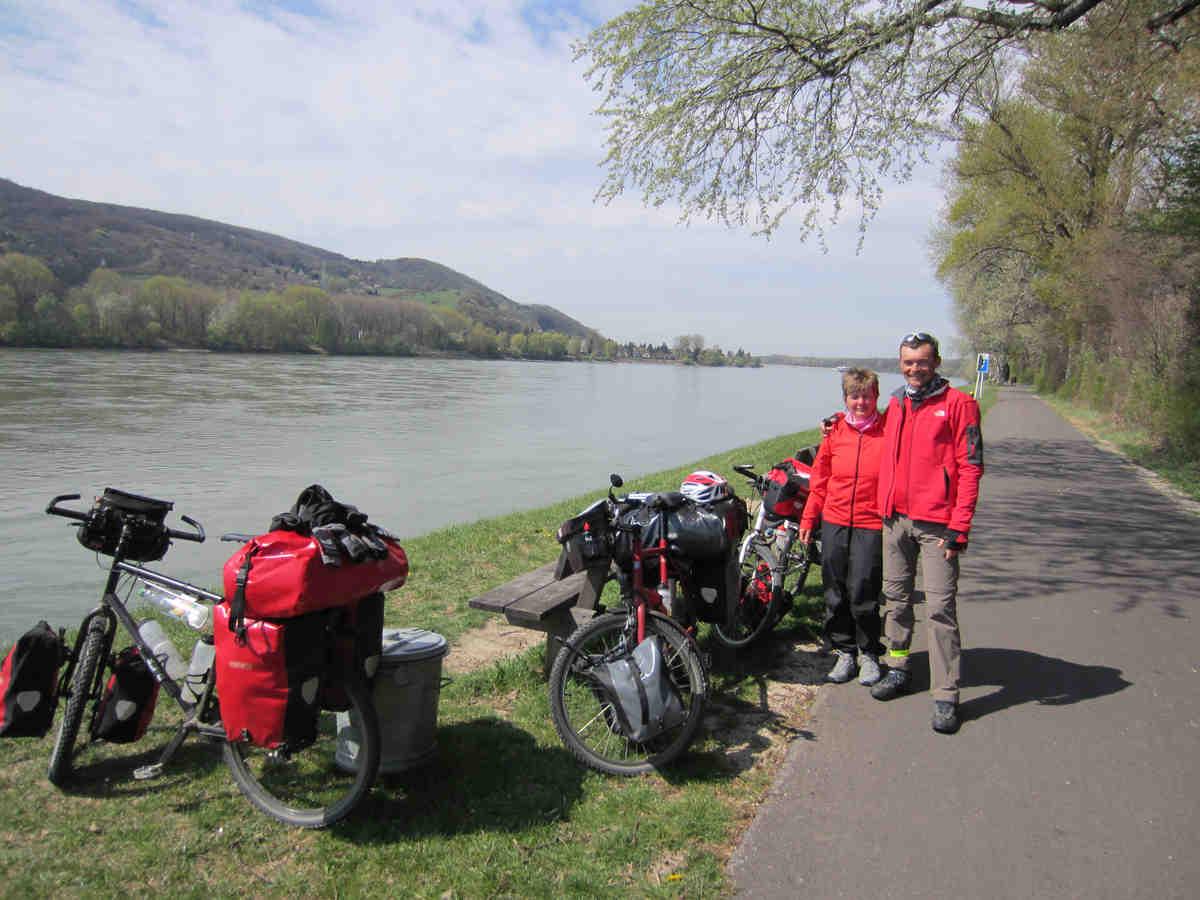 Wir erreichen kurz vor Wien die Donau