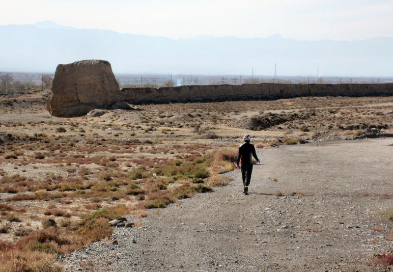 )Überreste der originalen Chinesischen Mauer