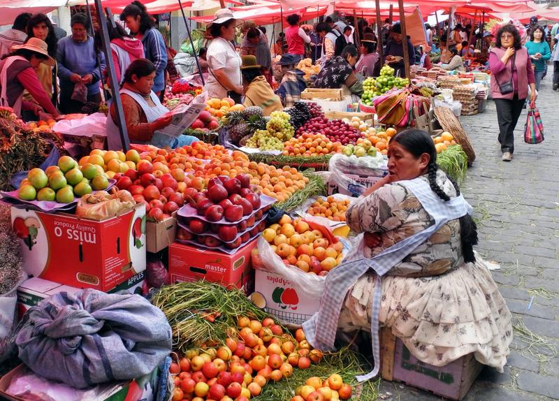 Typische Marktfrau