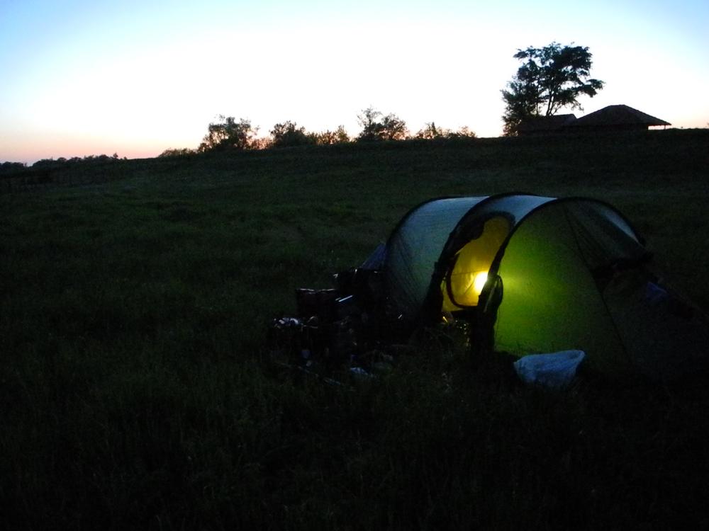 Abends hinterm Donaudeich
