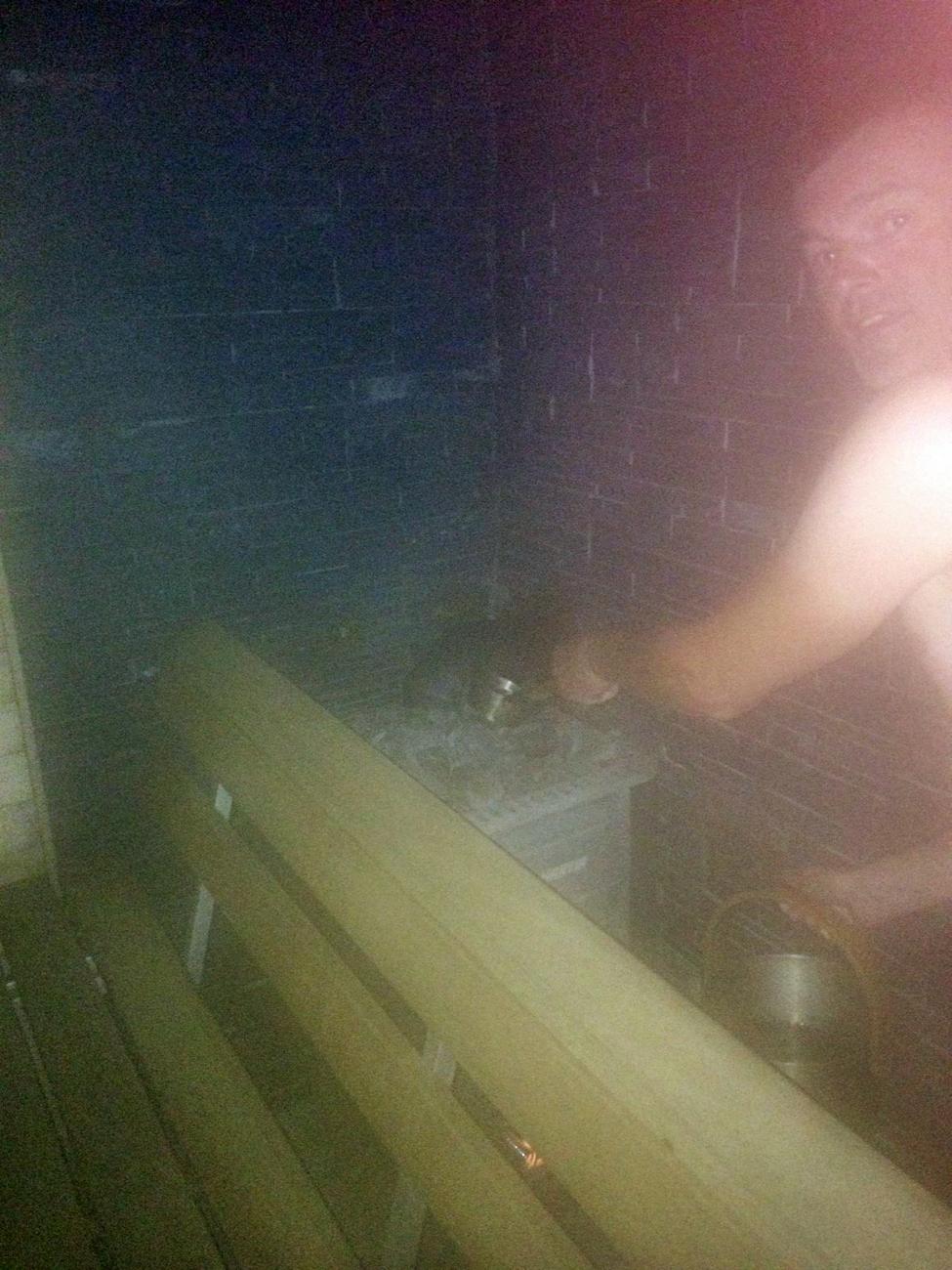 In Finnland in einer finnischen Sauna