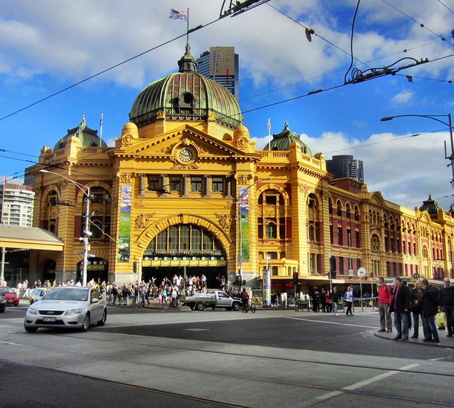 Flinders Station in Melbourne
