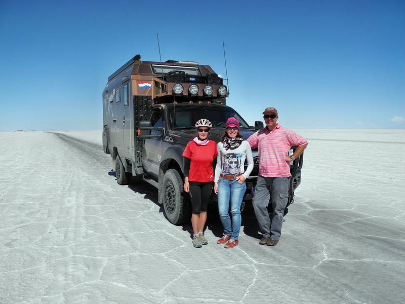 Hannie & Jean Pierre sind bereits seit eingen Jahren mit ihrem Camper auf Weltreise
