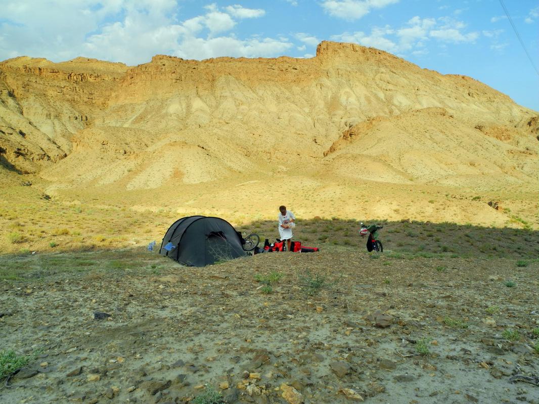 Unser erster Schlafplatz im Iran