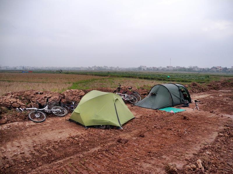 Camp auf dem Feld