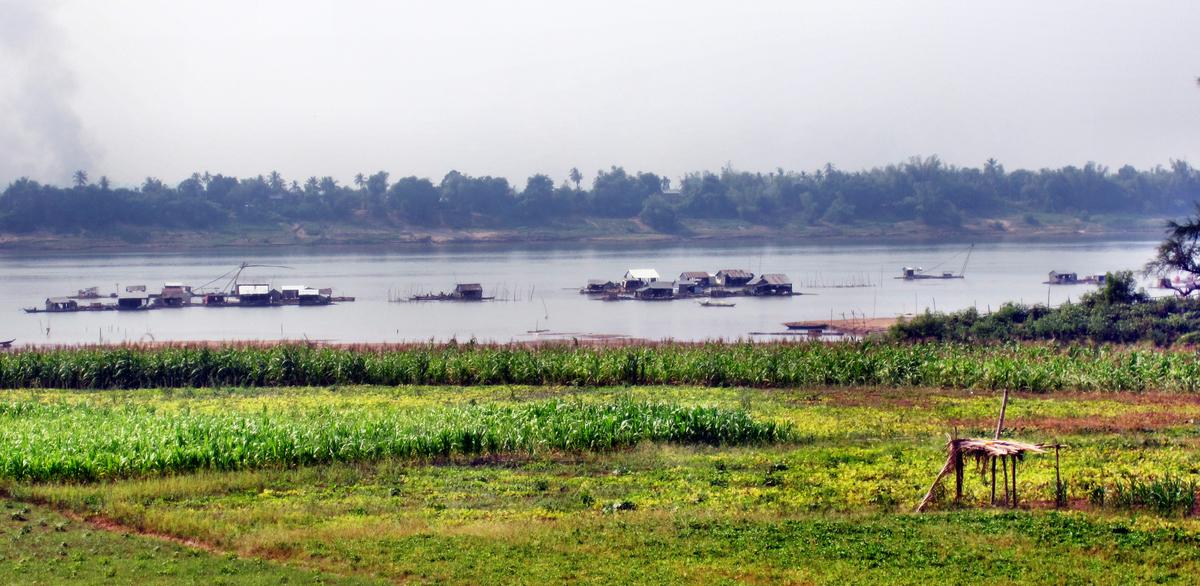 Der Mekong in der Trockenzeit