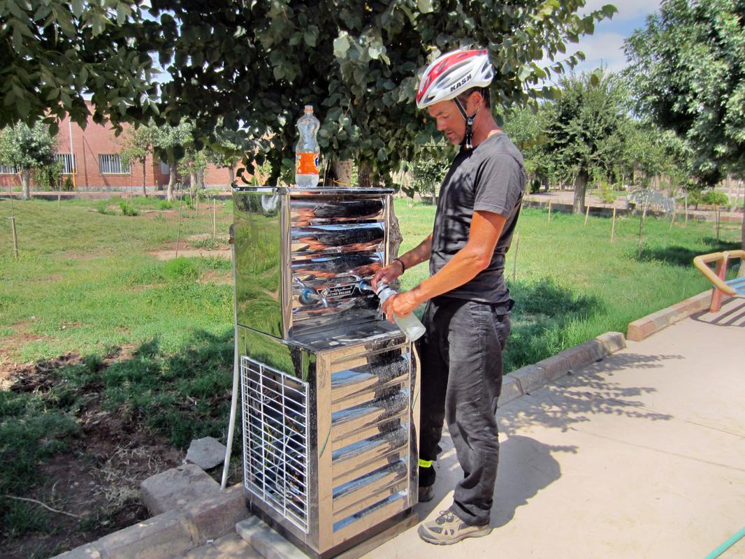 In iranischen Stadtparks gibt es immer gekühltes Trinkwasser