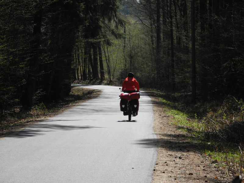 Herrlich fahren wir durch den Böhmerwald