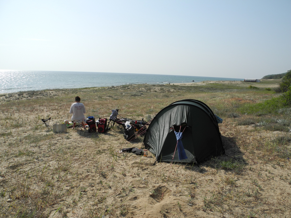 Camp am Strand