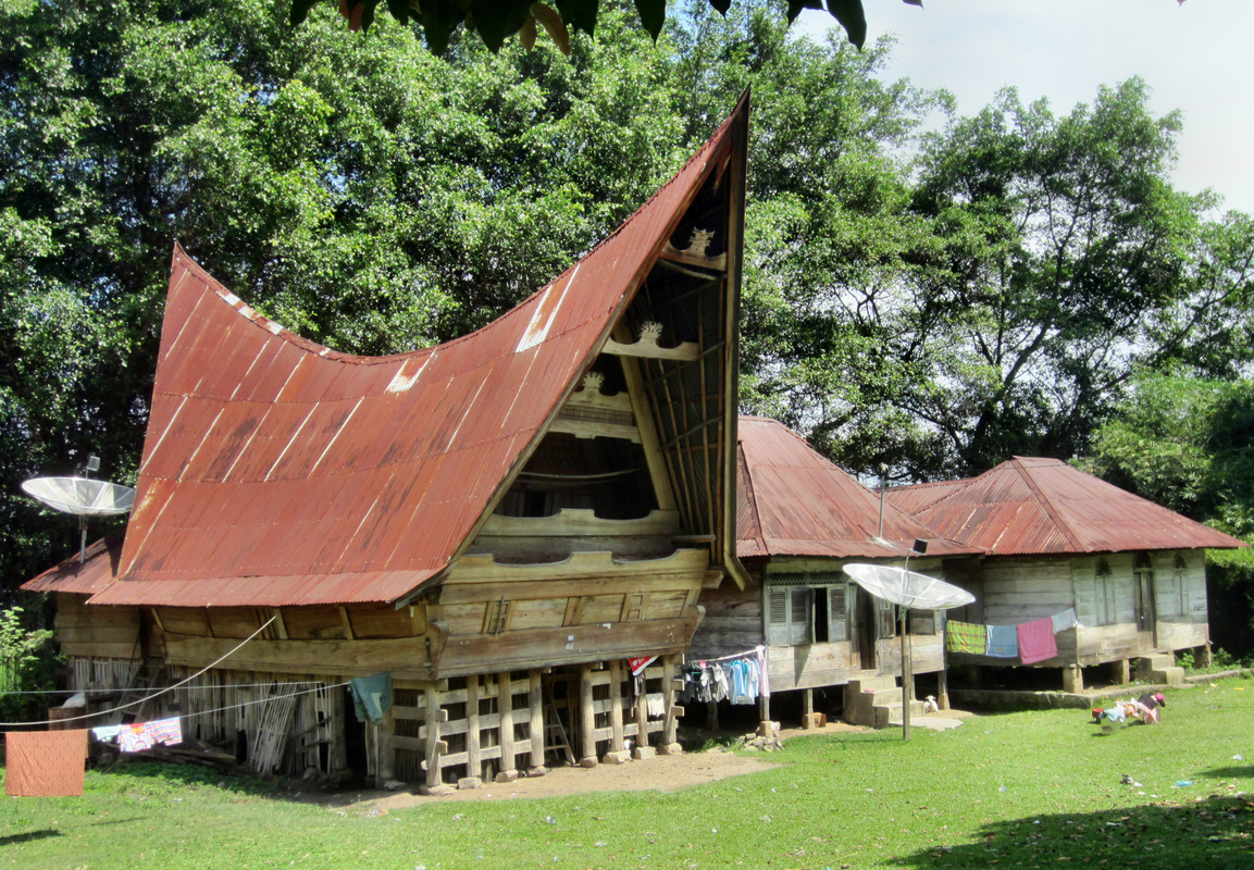 Die traditionellen Batakhäuser