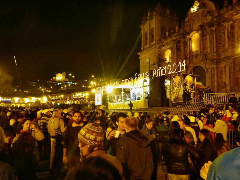 Silvester auf dem Plaza de Armas in Cusco