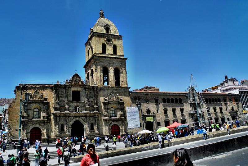 Die bedeutendste Kirche in La Paz - die Iglesia San Francisco