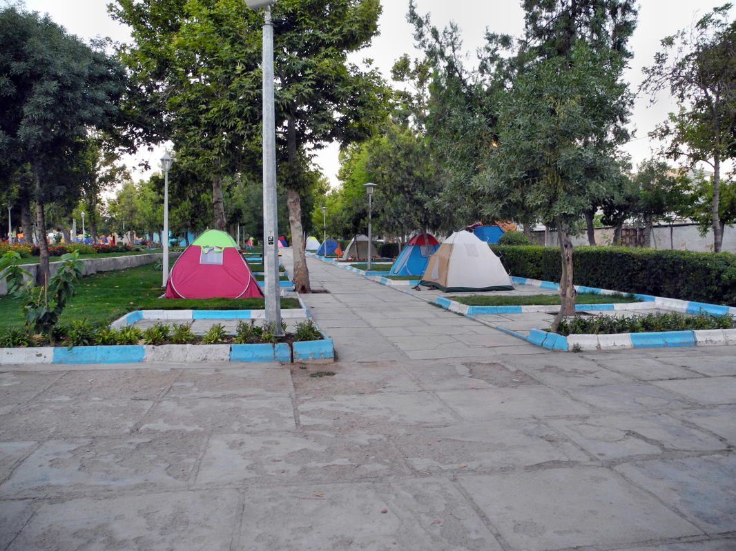 Iraner campen sehr gern im Stadtpark