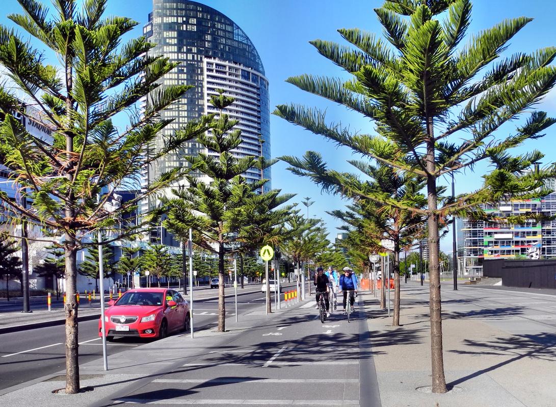 Tolle Radwege in Melbourne
