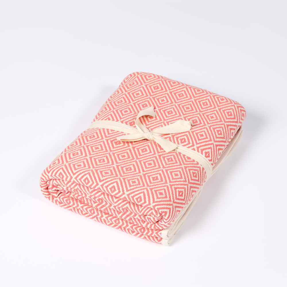 Yoga Decke Bio Baumwolle pink