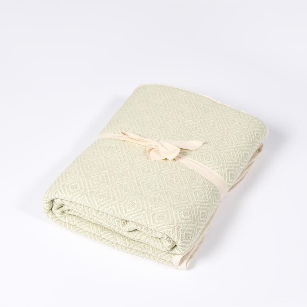 Yoga Decke Bio Baumwolle lindengrün