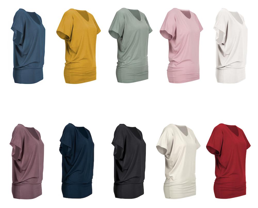 Yoga Shirt Damen nachhaltige Bambusviskose, Swiss Brand