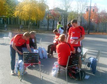 Startvorbereitungen vor dem Festspielhaus in Bregenz