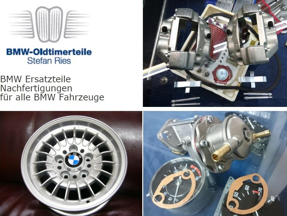 BMW-Oldtimerteile. BMW Ersatzteile. Nachfertigungen für alle BMW Fahrzeuge.