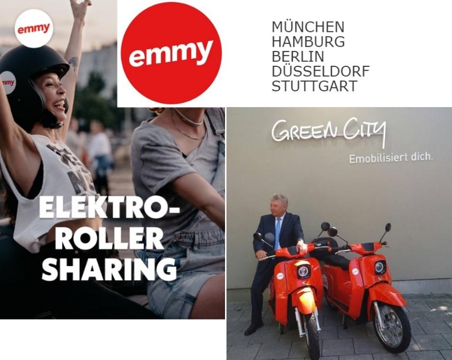 ELEKTROROLLER SHARING: München, Hamburg, Berlin, Düsseldorf, Stuttgart.