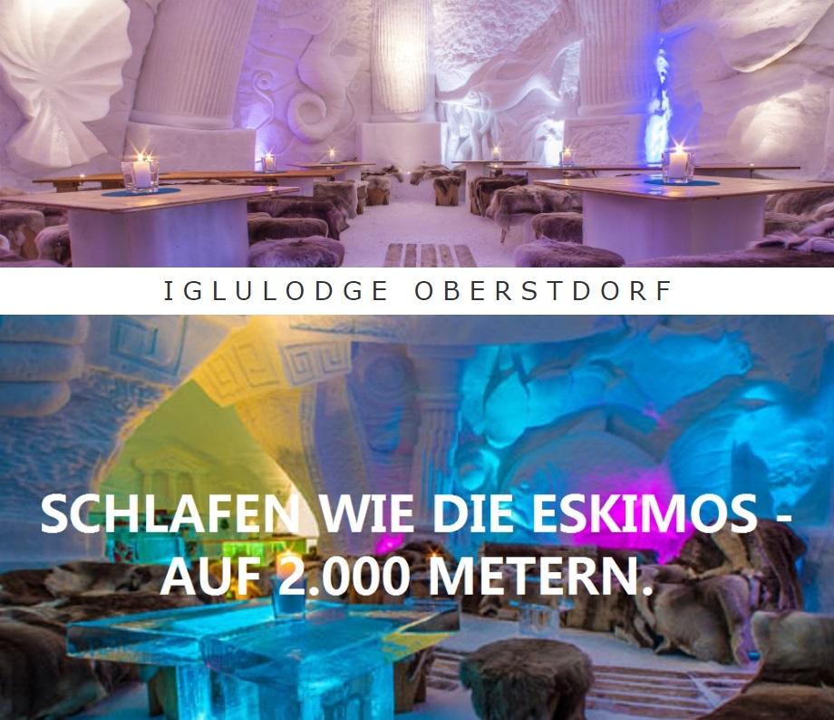 IGLULODGE OBERSTDORF, SCHLAFEN WIE DIE ESKIMOS - AUF 2000 METERN.
