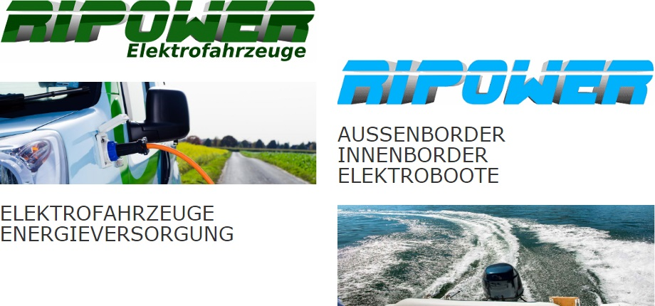 Elektrofahrzeuge. Energieversorgung. Aussenborder, Innenborder, Elektroboote.