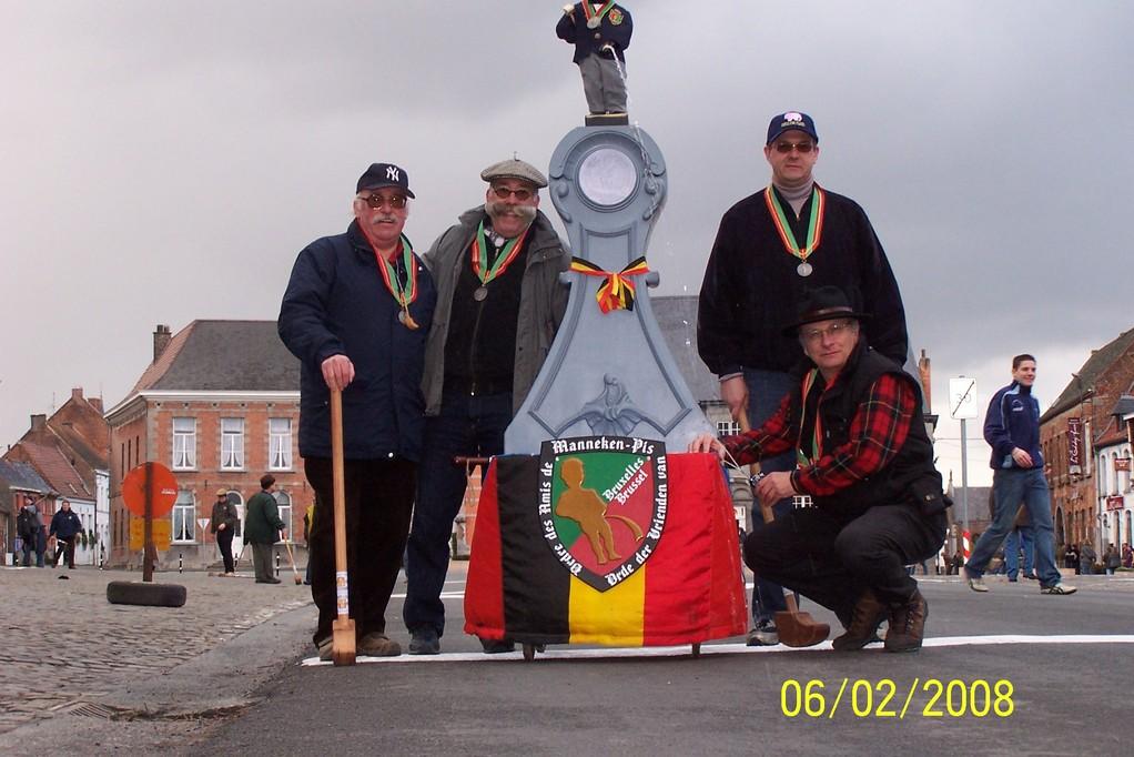 En 2008, une délégation bruxelloise est venue s'initier au crossage