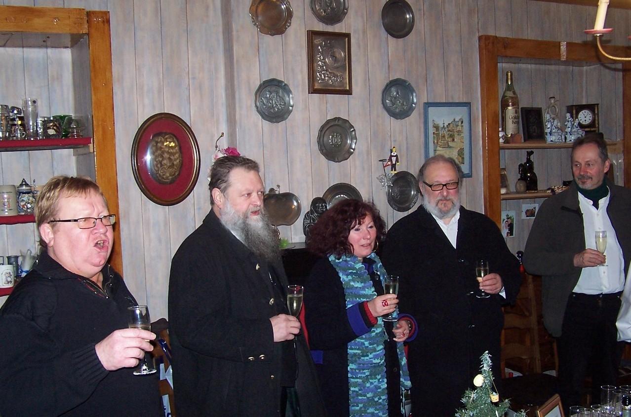 Le verre de bienvenue chez Jean-François