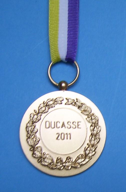 Médaille commémorative de la 15ème année de participation à la Ducasse.