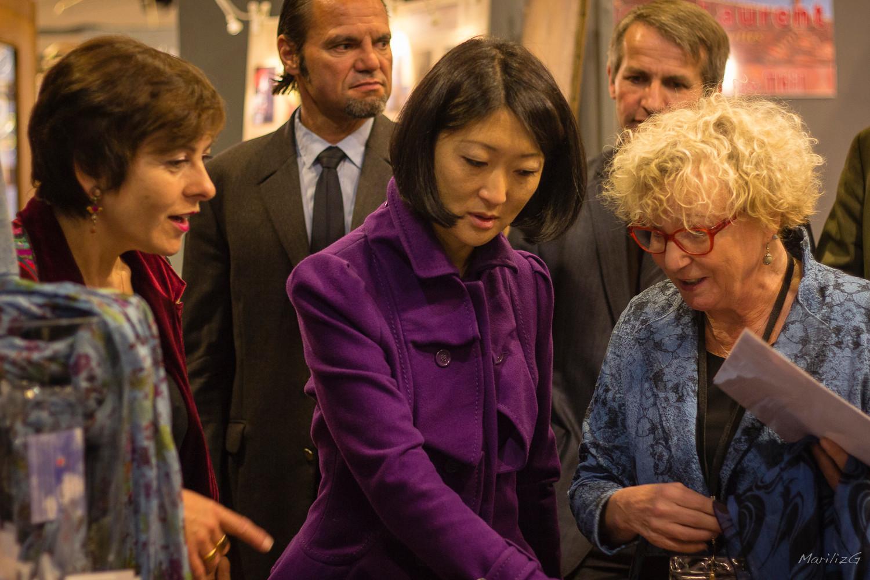 Annette avec Carole Delga et Fleur Pellerin, Ministre de la Culture