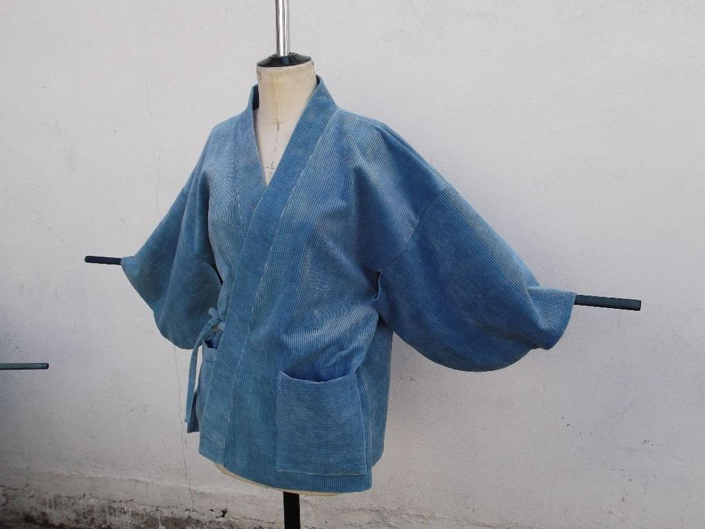 Kimono en velours côtelé