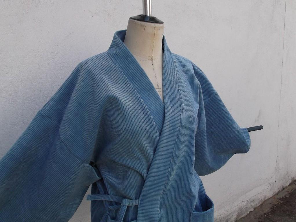 Kimono en velours côtelé (détail)