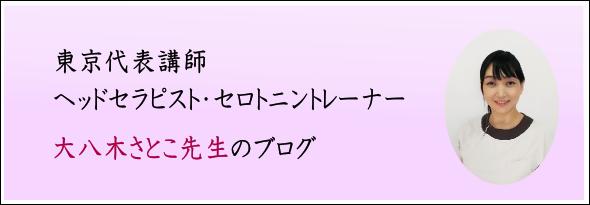 ヘッドセラピスト・セロトニントレーナー大八木先生のブログ(東京)