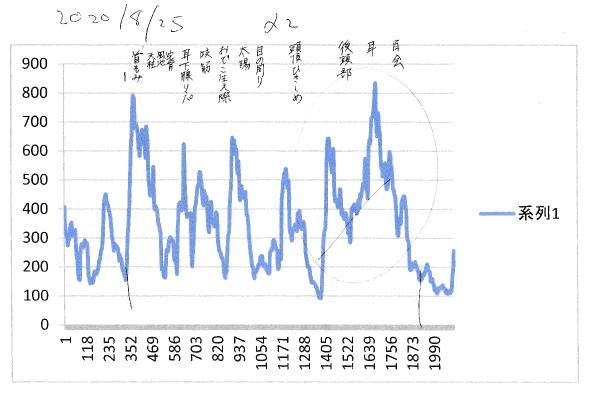 セロトニン測定結果 セルフケア・ヘッドマッサージ