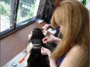 コーンロウの編み方画像