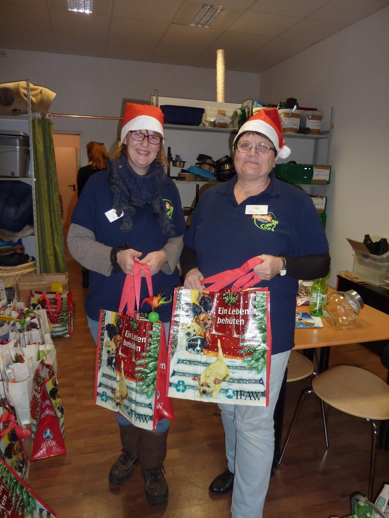Weihnachtswichtel Sabine und Margret