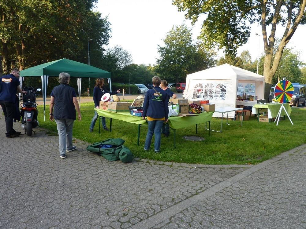 DogWalk 2014 - Der Aufbau - Foto Oetken