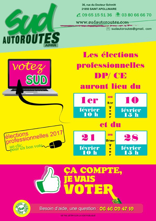 élections professionnelles Syndicat SUD Aprr