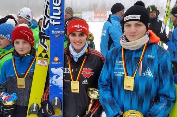 Tom Gerisch (WSG Rodewisch), Selina Freitag und Leif Fricke (SG Nickelhütte Aue)
