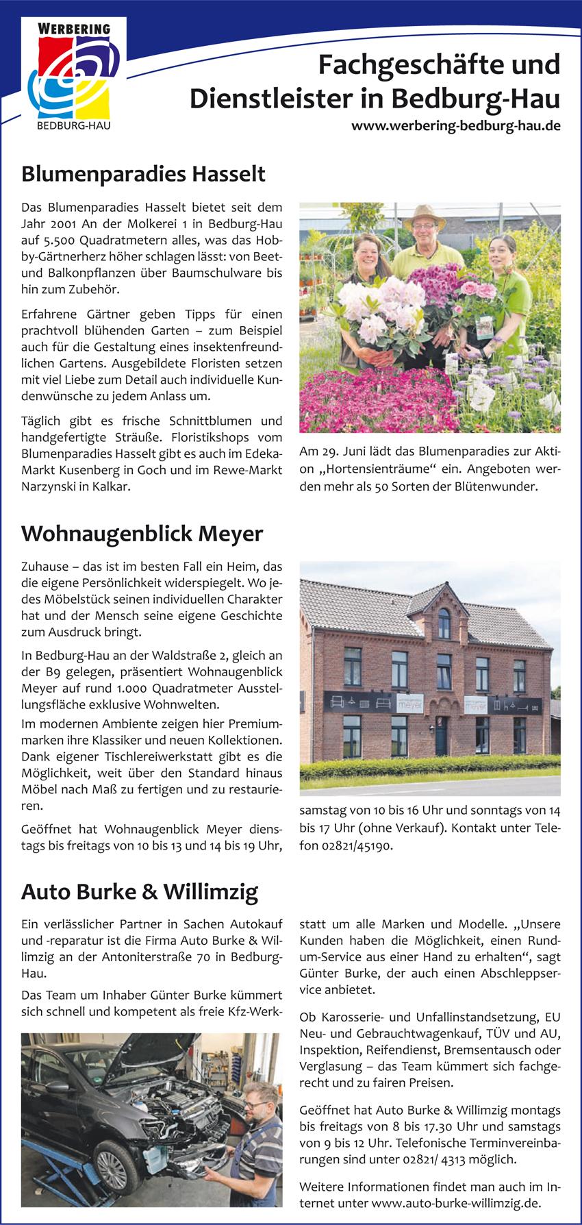 Der Werbering Bedburg-Hau sponsert 2019 wieder seine Mitglieder, welche eine Anzeige in den Niederrhein Nachrichten aufgeben.