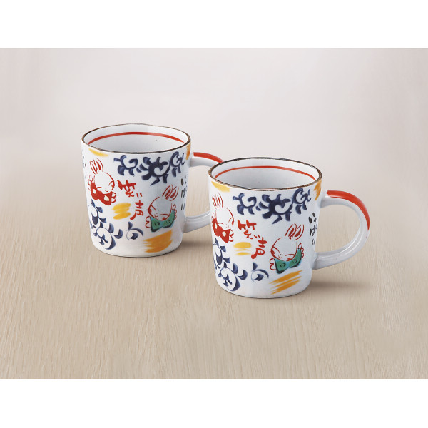 夕立窯 たこ唐草 ペアマグカップ (YK614)