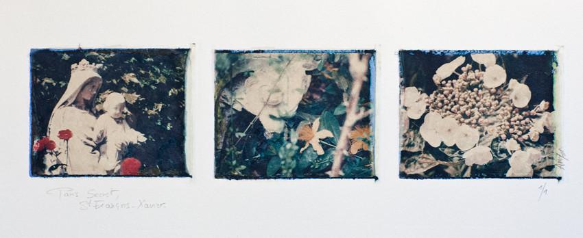 Paris Secret, Jardin de l'église Saint-François Xavier, transfert d'image polaroid, 2001, 1/1 © Annick Maroussy