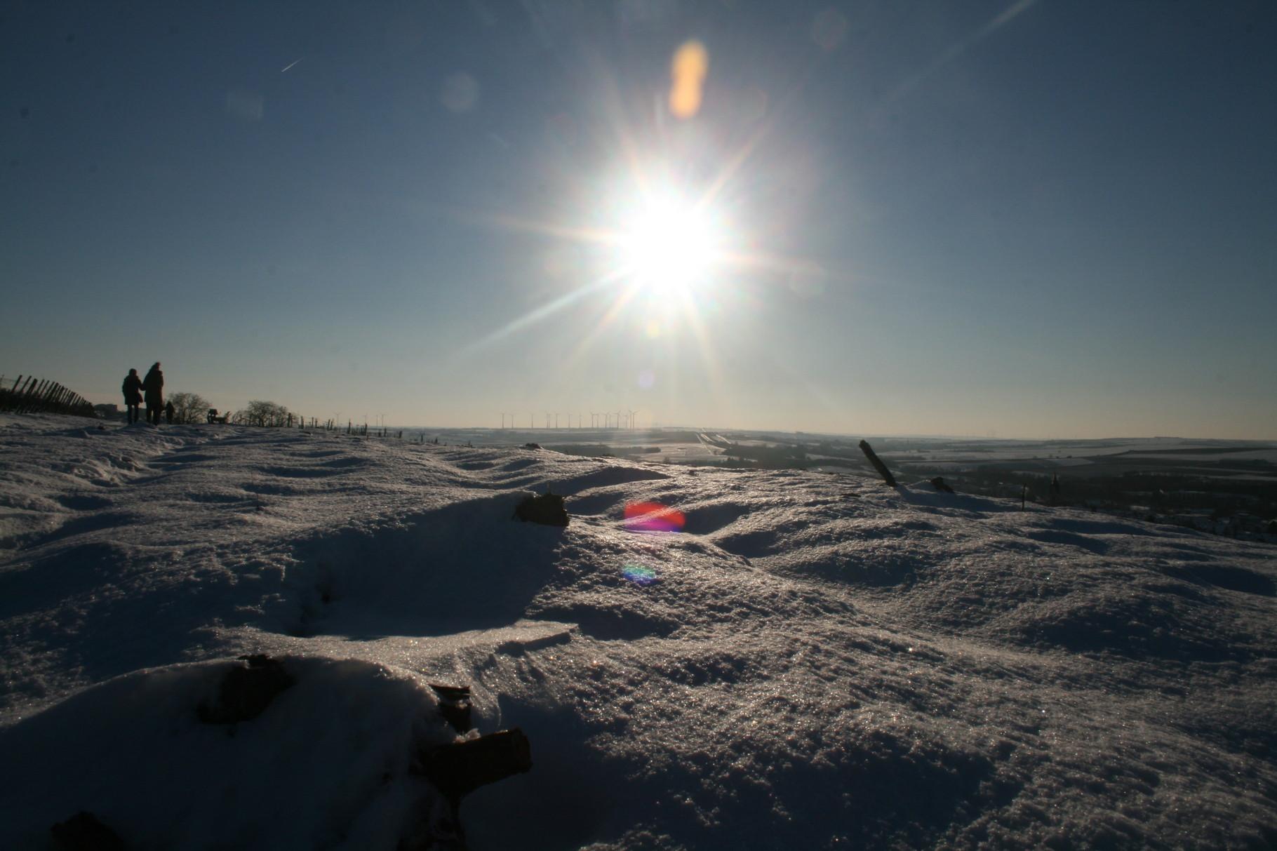 Und es gibt sie doch noch: Die Sonne! Gefunden beim Winterspaziergang.