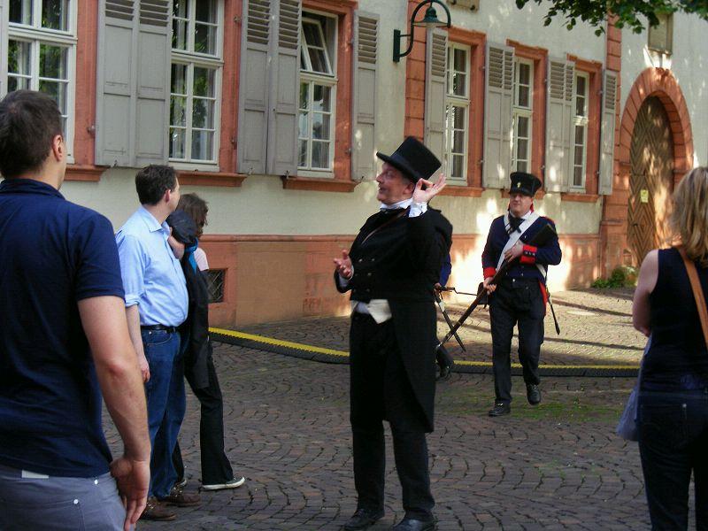 Heidelberg , Stadtführung, Gendarmen