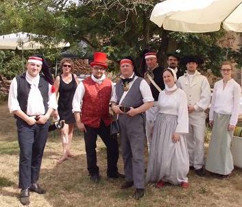 Historisches Sommerfest, das Team