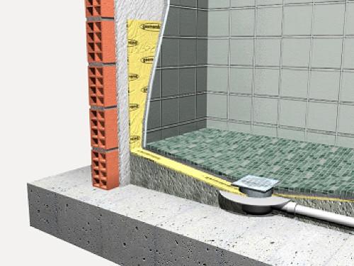 seccion constructiva de plato de ducha de obra
