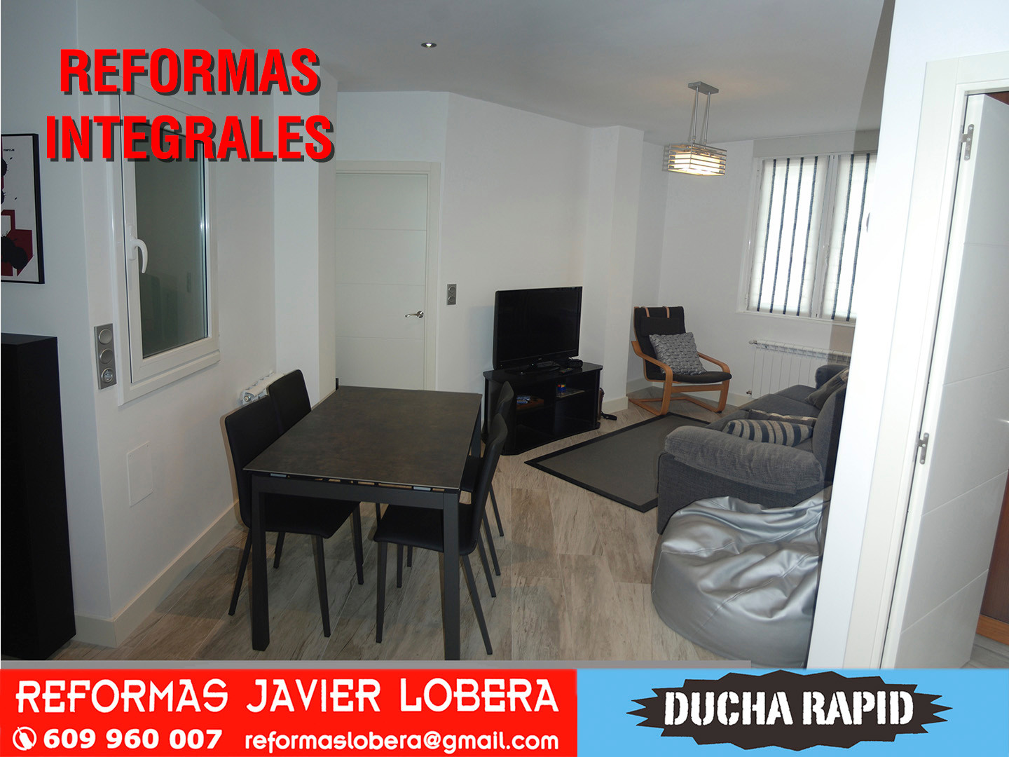 reforma integral ,comedor-salon