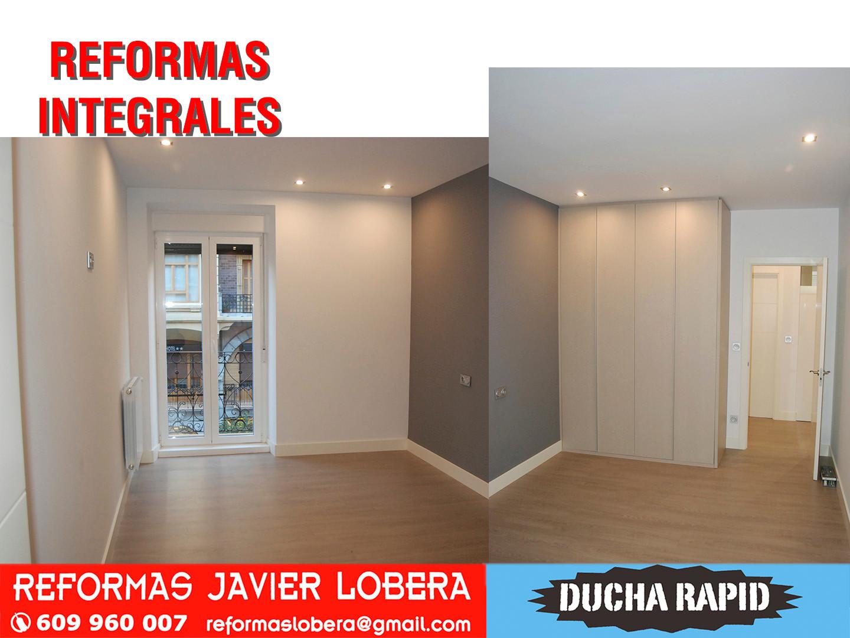 reforma integral,detalle puerta ventana balconera y armario a medida texturizado