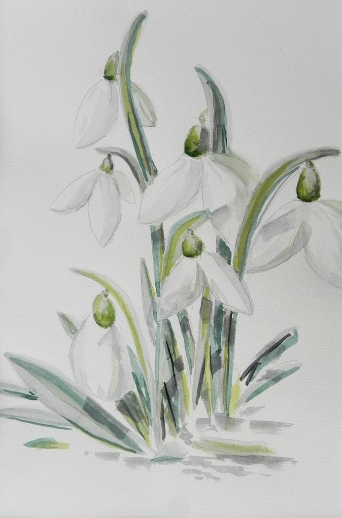 blumen und bl tter sabina franke malerei acrylbilder pastellbilder. Black Bedroom Furniture Sets. Home Design Ideas