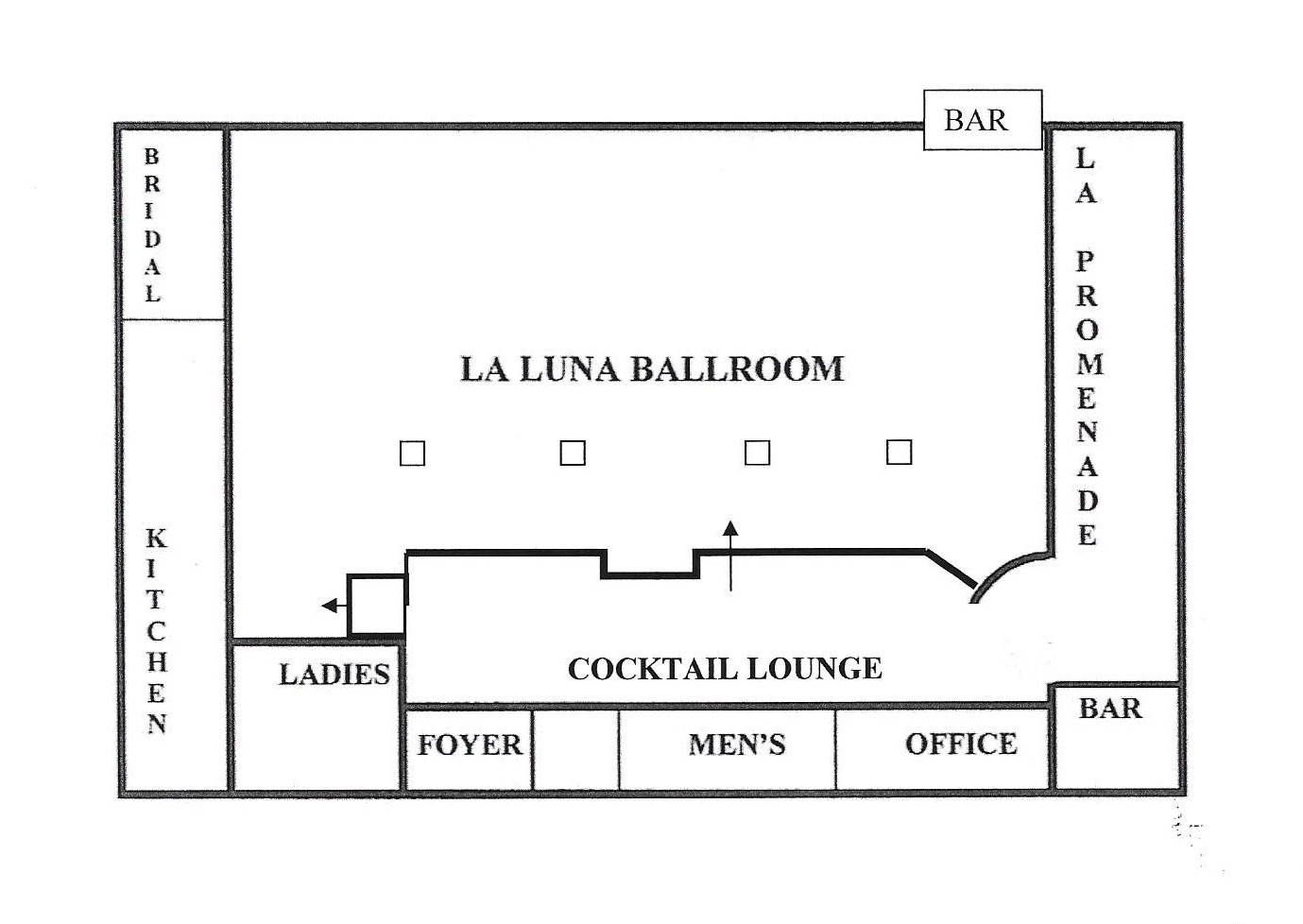La luna venue layout la luna banquet hall wedding for Wedding floor plan app
